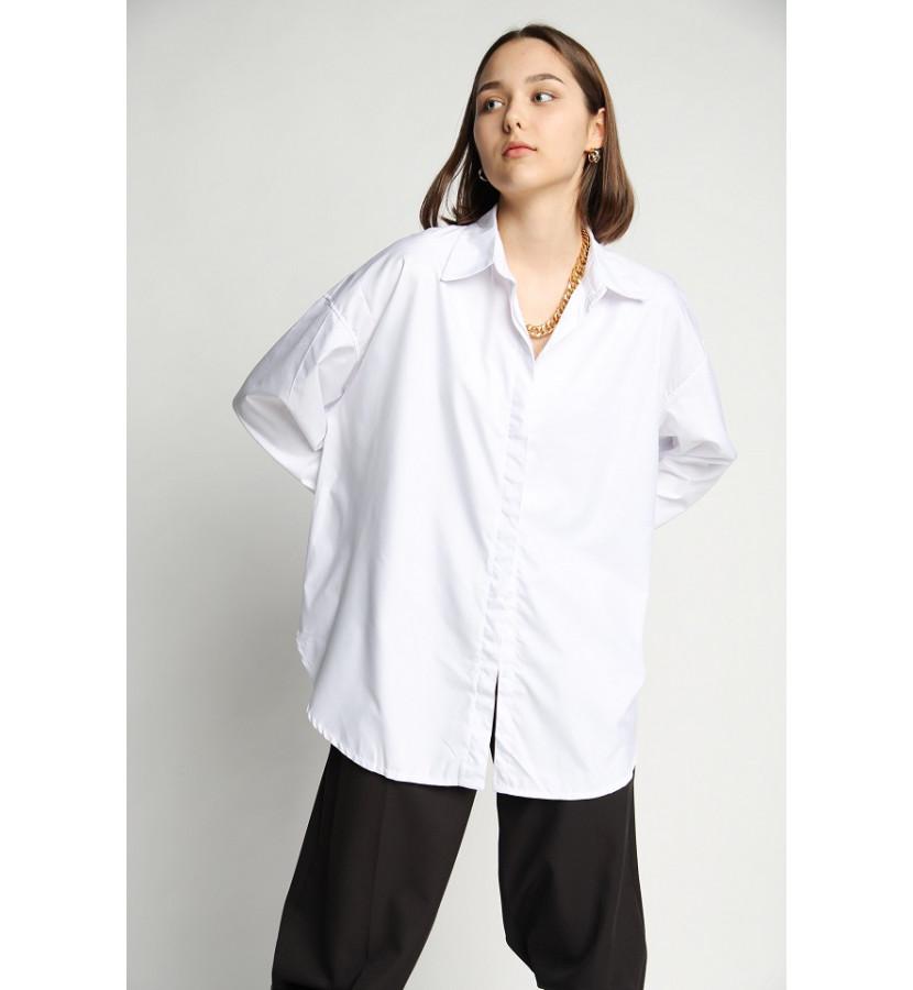 Рубашка из поплина, oversize кроя