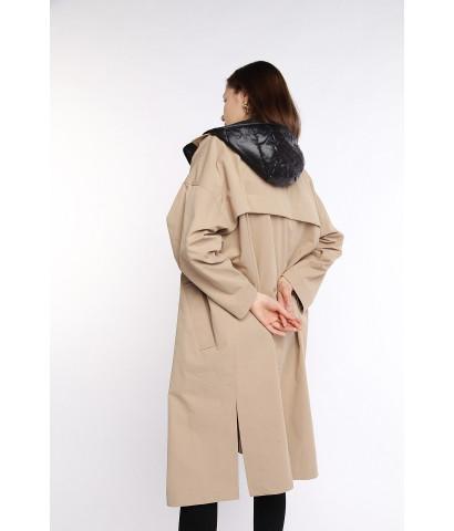 Куртка - парка удлиненная прямого кроя