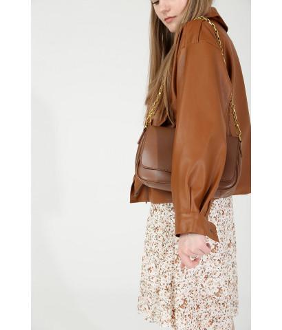 Куртка из эко - кожи укороченная