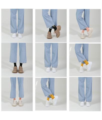 Классические кроссовки на широкой подошве