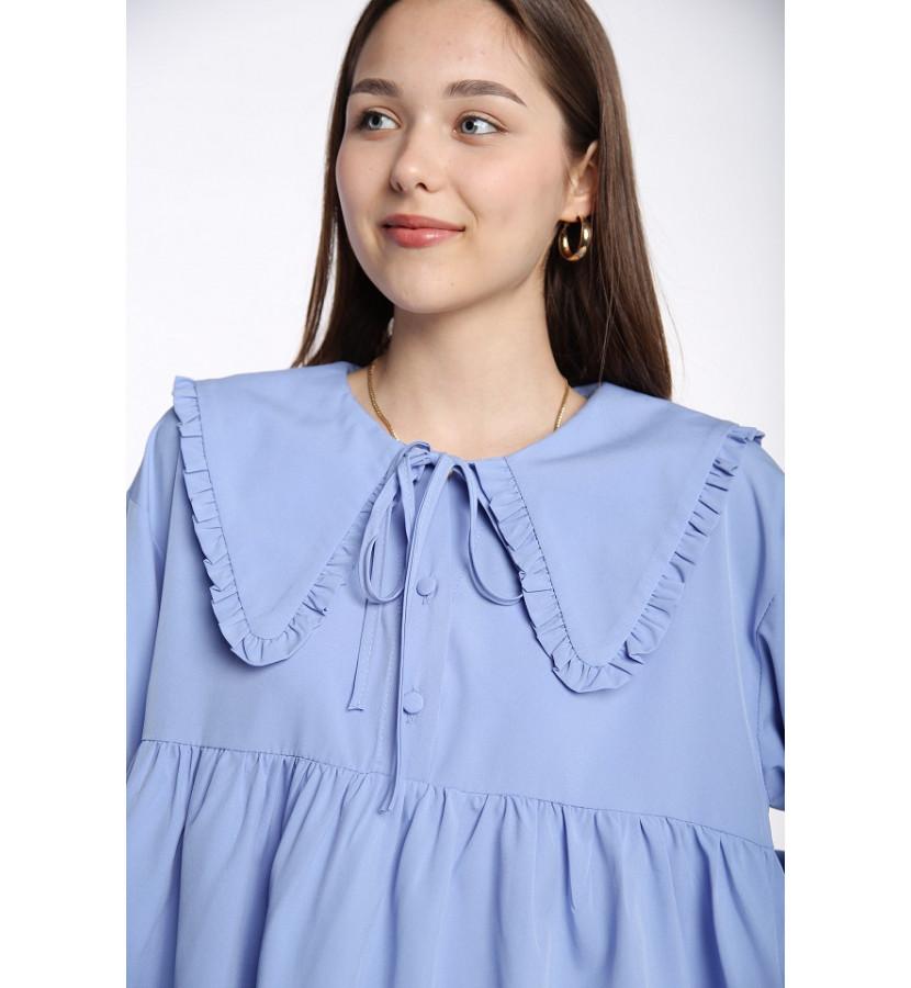 Платье с воротничком, А - силуэта