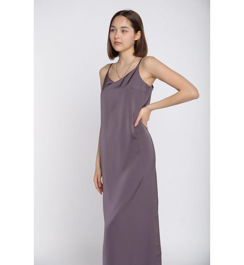 Платье комбинация, длина миди с разрезом