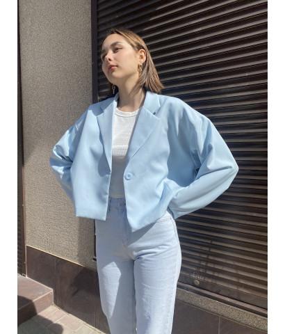 Пиджак укороченный на пуговице свободного кроя