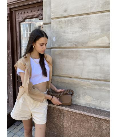 Рубашка с коротким рукавом на пуговицах