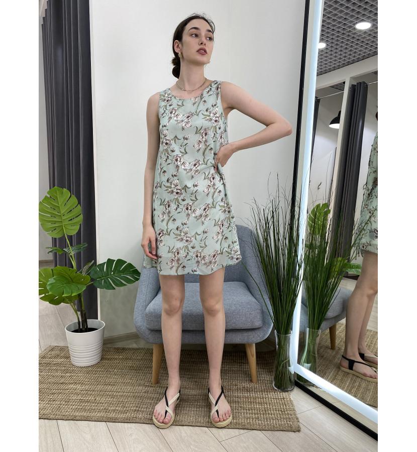 Платье мини без рукавов