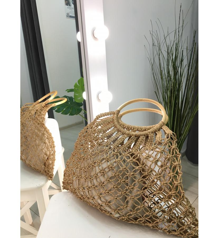 плетеная сумка-авоська