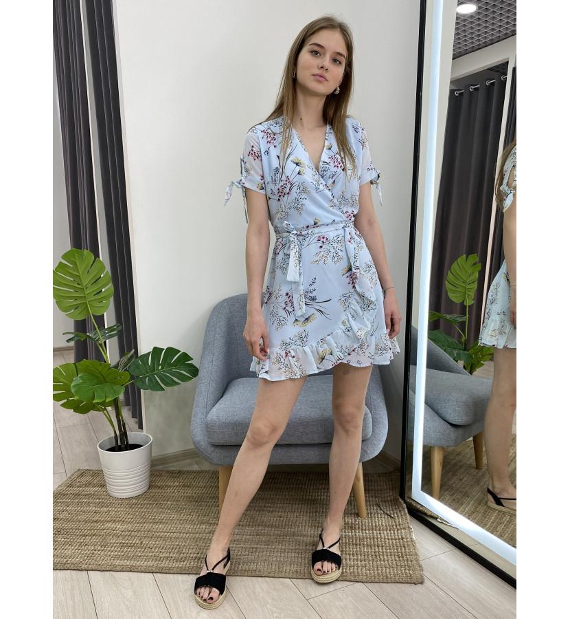 Платье мини с рюшами