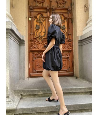 Платье облачко на резинке, на груди запах