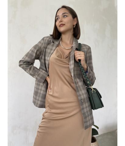 Платье - комбинация длина миди
