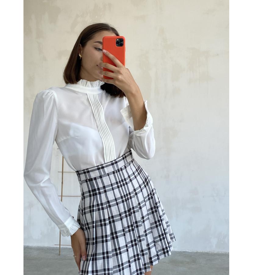 Блуза из шифона прямого кроя