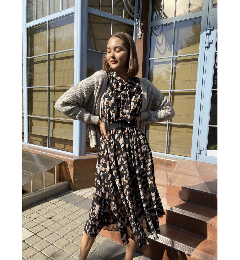 Платье миди длиной с принтом