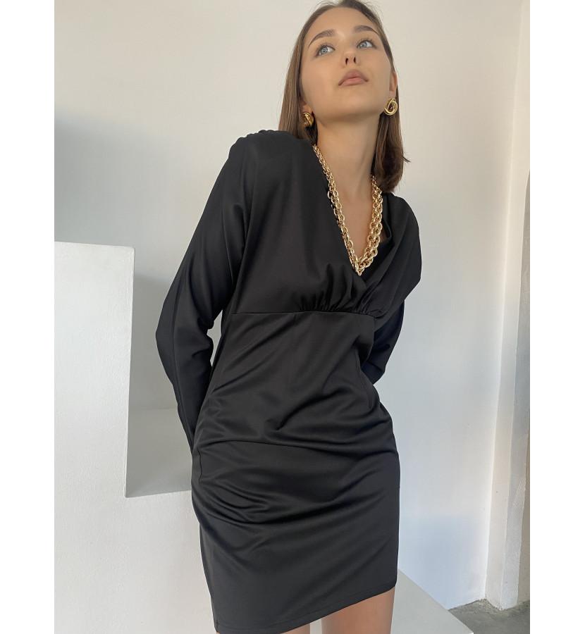 Платье мини с драпировкой