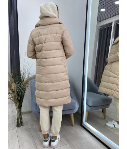 Куртка удлиненная с массивным воротником