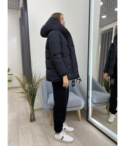Куртка дутик, с несьемным капюшоном