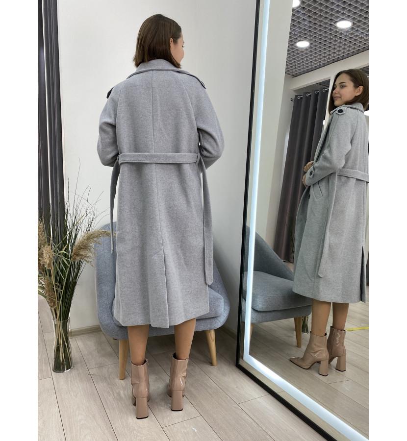 Пальто - тренч на пуговицах, длина миди