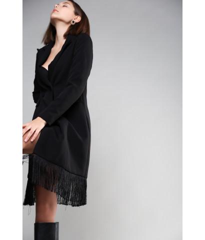 Платье - жакет с бахромой