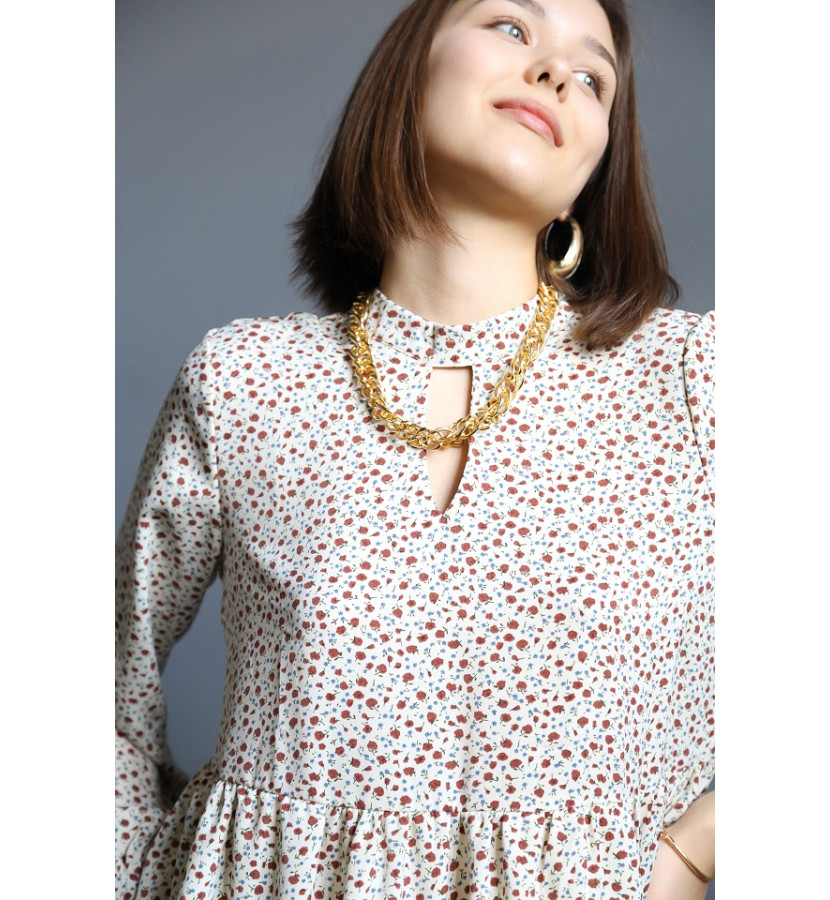 Платье А силуэта, длина мини с воланами