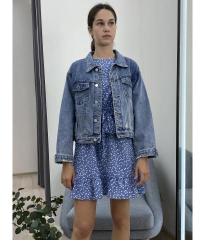 Джинсовая куртка в винтажном стиле