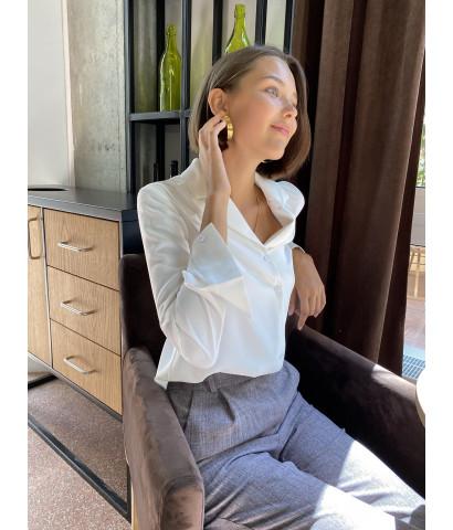 Шифоновая блузка на пуговицах