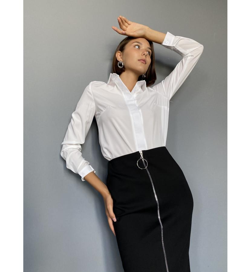 Блуза классическая на пуговицах