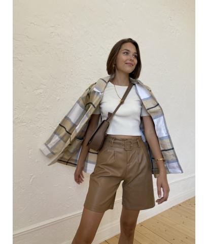 Куртка - рубашка в клетку свободного кроя
