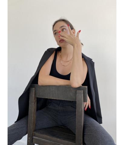 Жакет классчиеский удлиненный на пуговицах