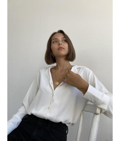 Блуза классическая на пуговицах с воротником