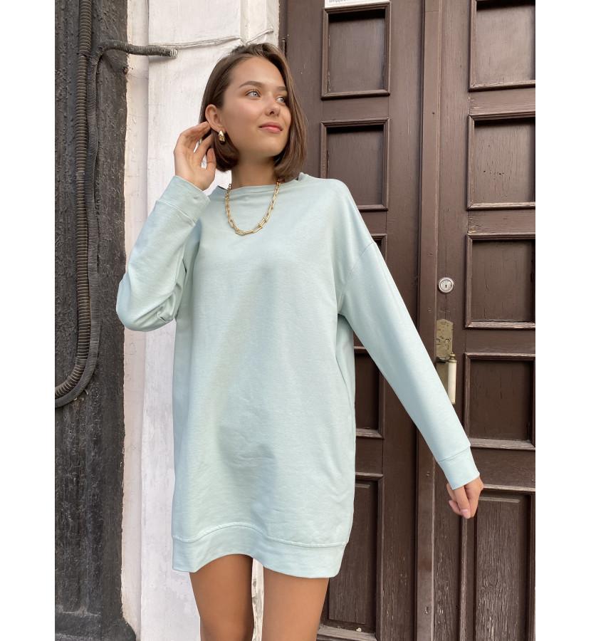 Платье - Свитшот свободного кроя