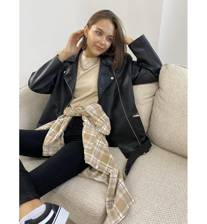 Куртка - косуха oversize с карманами