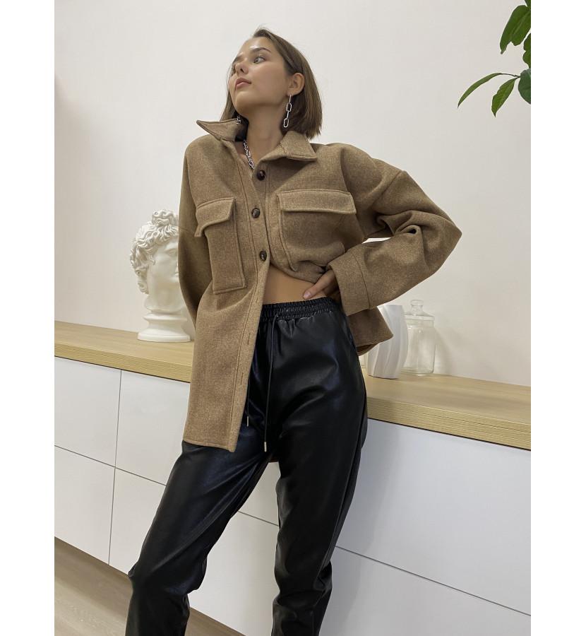 рубашка - куртка из плотной ткани свободного кроя