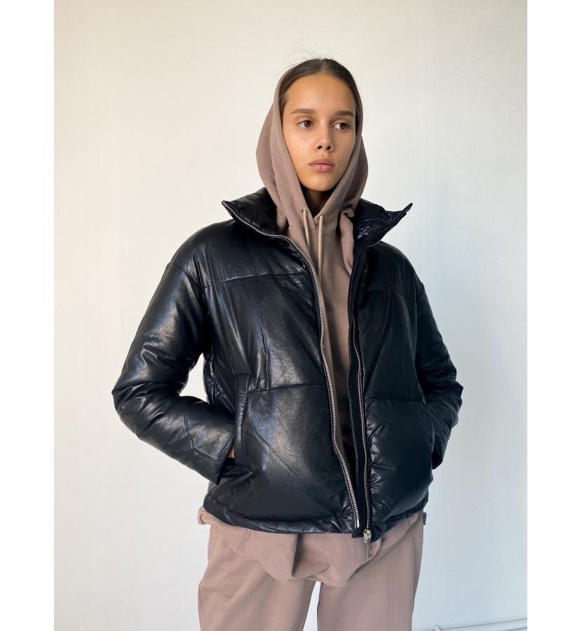 Куртка - дутик из эко-кожи