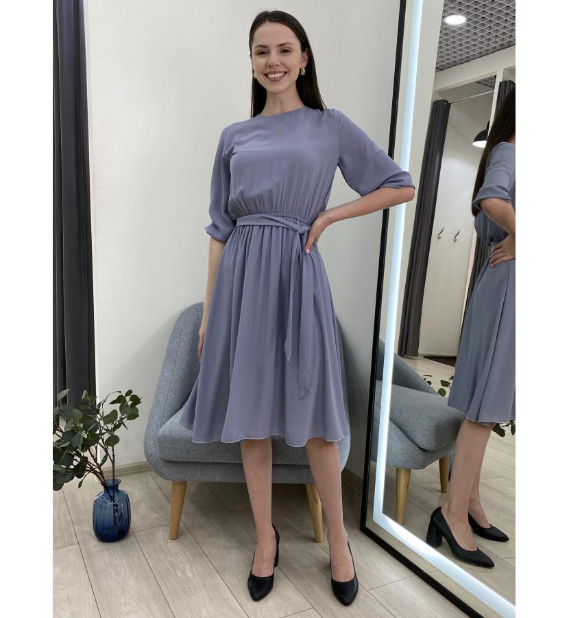 Платье - миди на талии резинка