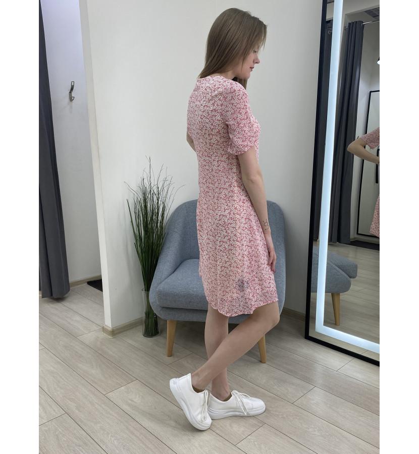 Платье мини прямого кроя