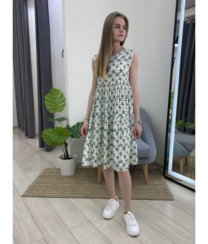 Платье без рукавов, свободного кроя