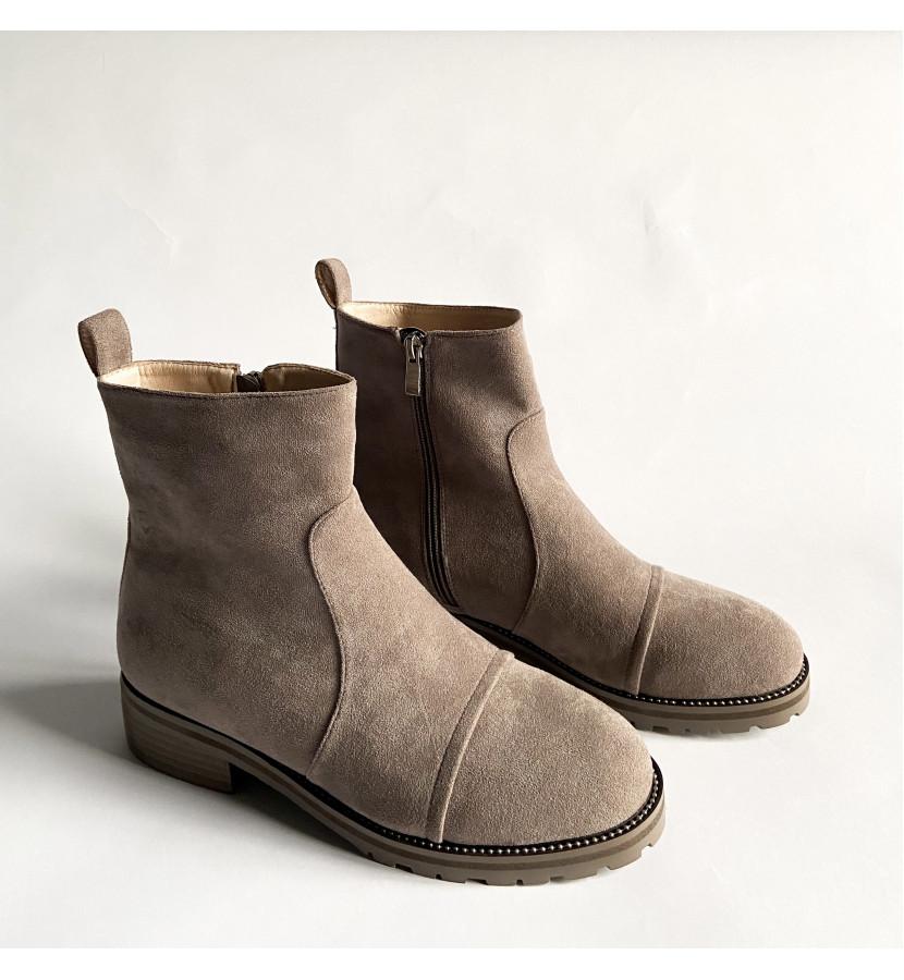 Ботинки из эко - замши